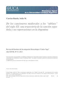 De Los Cancioneros Medievales A Los Tablaos Del Siglo Xx